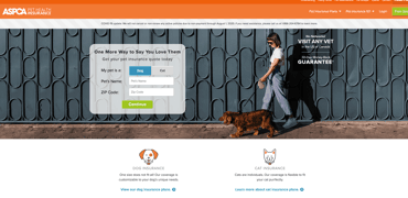 ASPCA Pet Insurance Website