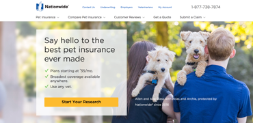 Nationwide Pet Insurance Review Cover Your Pet For Just 35
